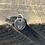 Thumbnail: Paw Sterling Silver Pebble Charm