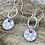 Thumbnail: Honeycomb Sterling Silver Drop Earrings
