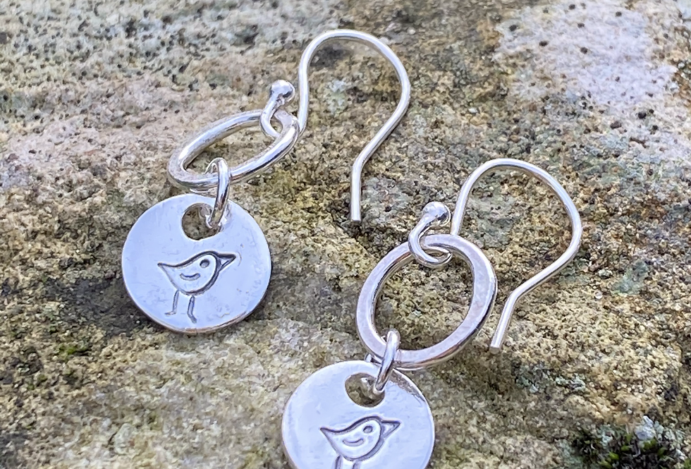 Robin Sterling Silver Drop Earrings