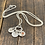 Thumbnail: 3 charm Sterling Silver Necklace