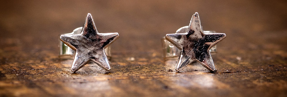 Star Micro Sterling Silver Earrings