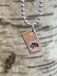 Bike Sterling Silver Tag