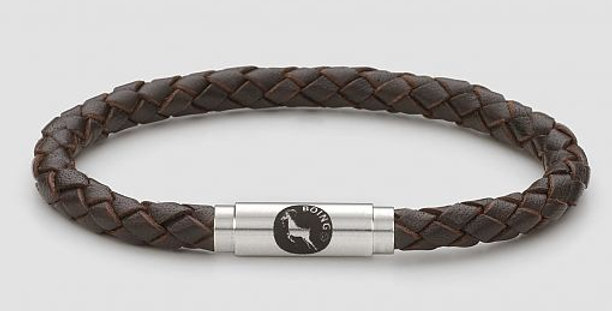 Boing Brown Leather Bracelet