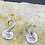 Thumbnail: Forget Me Not Sterling Silver Drop Earrings