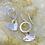 Thumbnail: Bohemian Hammered Heart Sterling Silver Drop Earrings
