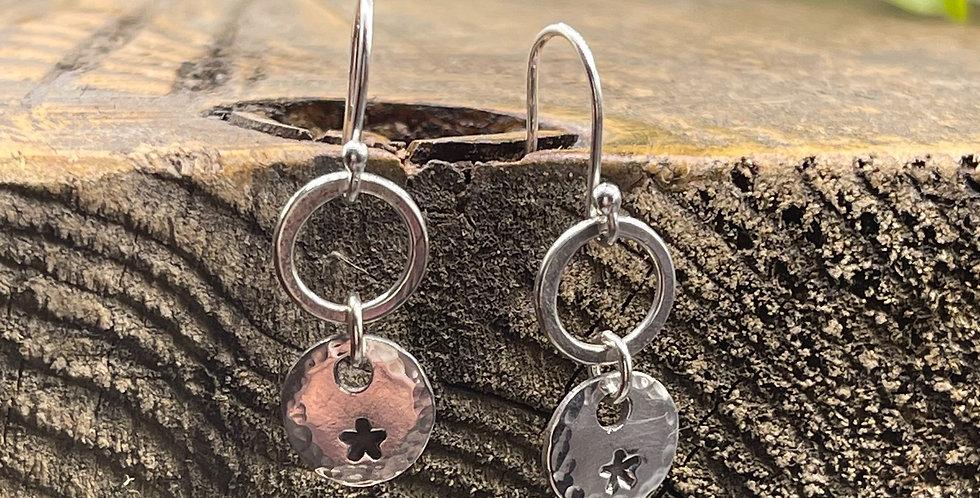 Star Sterling Silver Drop Earrings