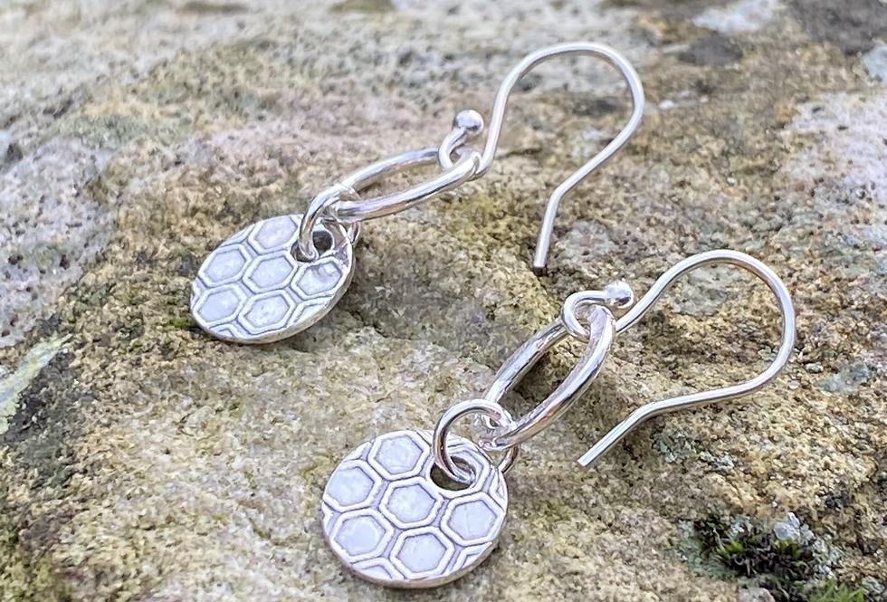 Honeycomb Sterling Silver Drop Earrings