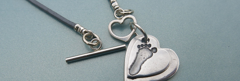 Impression Handmade Silver Charm