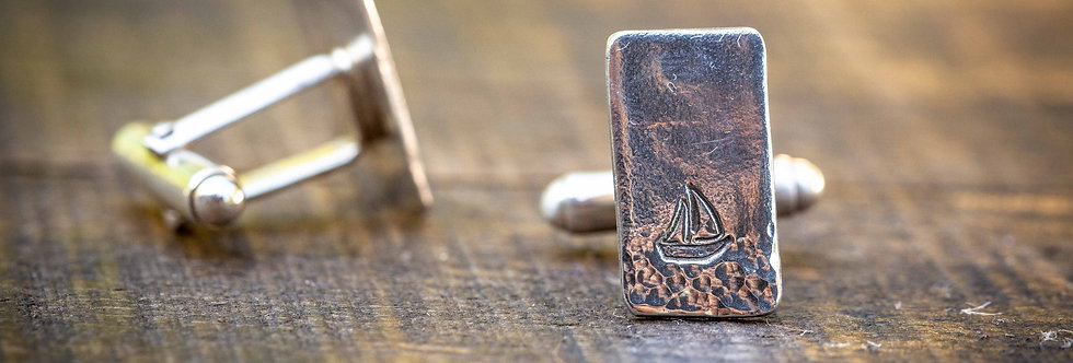 Sailboat Sterling Silver Cufflinks