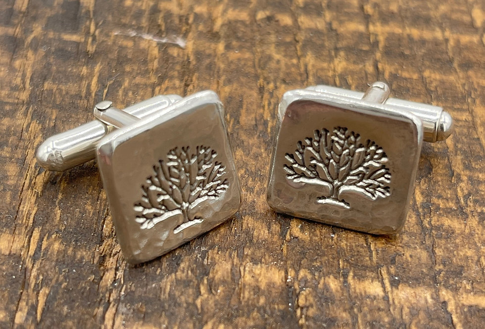 Tree Of Life Sterling Silver Cufflink