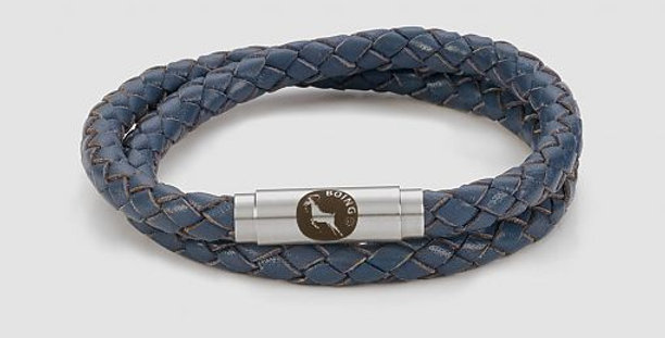 Boing Blue Leather Bracelet