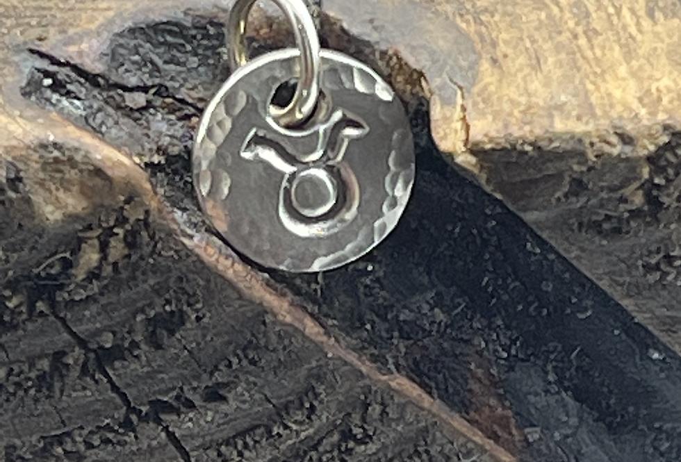 Taurus Sterling Silver Pebble Charm