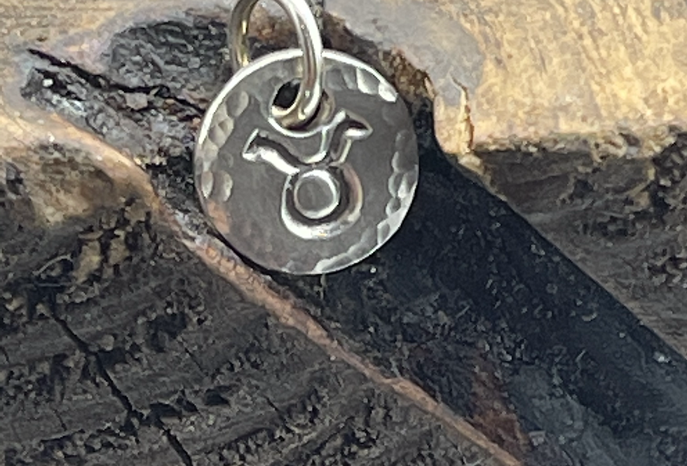 Taurus Sterling Silver Charm