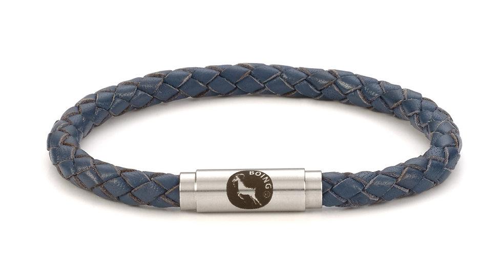 Boing Blue Leather Bracelet