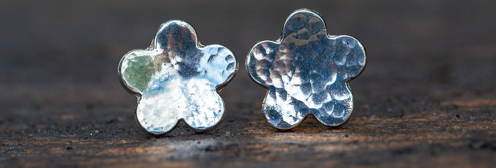 Flower Sterling Silver Earrings