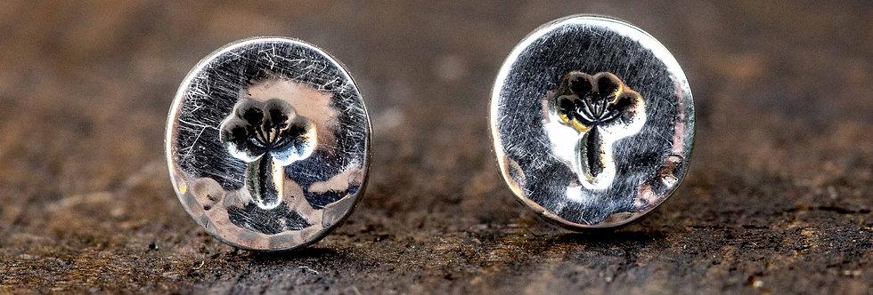 Dandelion Silver Stud Earrings