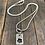 Thumbnail: Flower Tag Sterling Silver Necklace