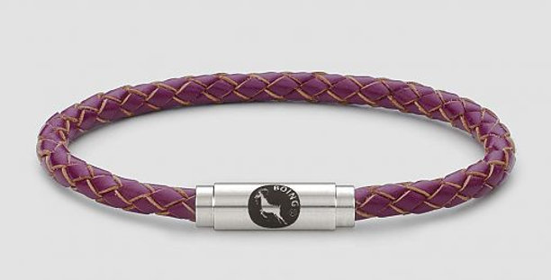 Boing Magenta Leather Bracelet
