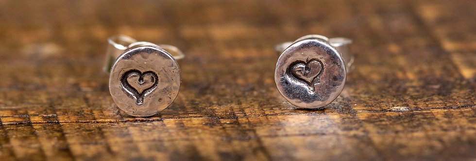 Heart Micro Sterling Silver Earrings