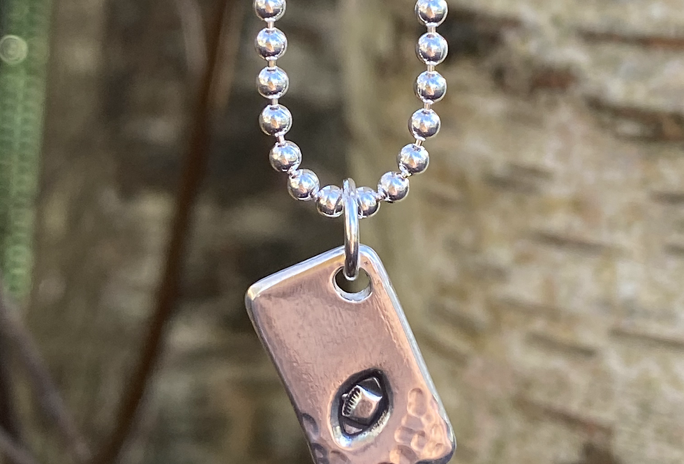 Rugby Ball Sterling Silver Tag