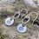 Thumbnail: Daisy Sterling Silver Drop Earrings