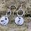 Thumbnail: Ladybird Sterling Silver Drop Earrings