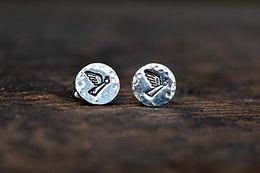 Angel Silver Stud Earrings
