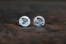 Angel Silver Stud Earrings