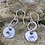 Thumbnail: Lotus Flower Sterling Silver Drop Earrings