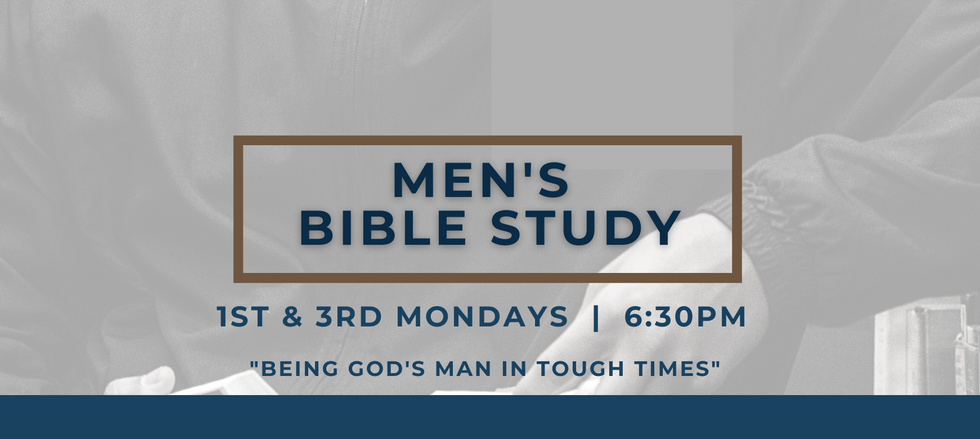 Men's Bible Study - Being a Mand in Toug