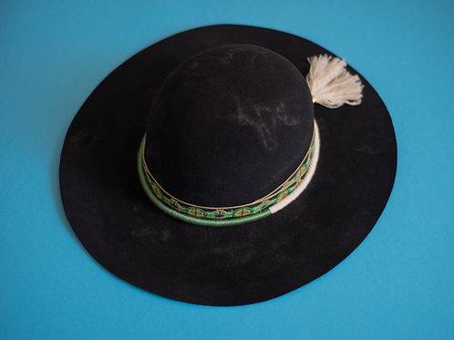 Black 'Magic Mountain' Fur Felt Hat withcustomhatband