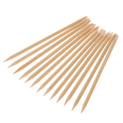 Orange Wood Sticks Manicure 10pc 11cm