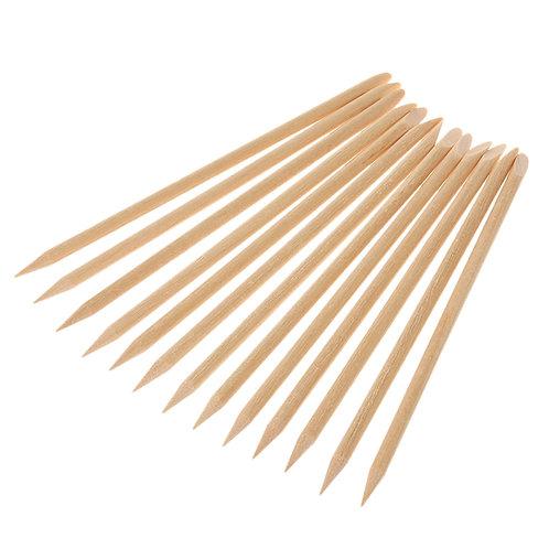 Orange Wood Sticks Manicure 10pc 11cm