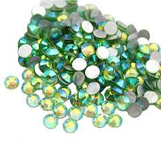 Extra Quality High Shine Crystals  Lt Green 1728 pcs 6 sizes separate