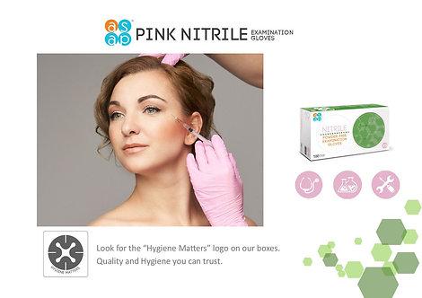 ASAP  Nitrile Powder Free Examination Gloves,  PINK