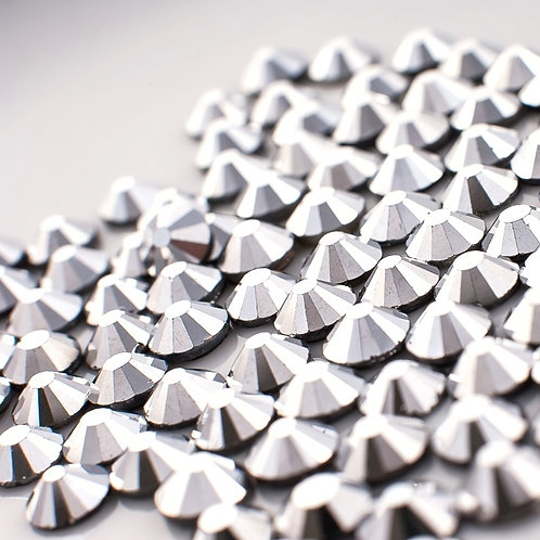 Extra Quality High Shine Crystals  Hematite  1728 pc 6 sizes