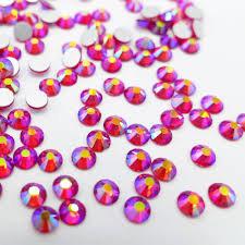 Extra Quality High Shine Siam Crystals  1728 pcs 6 sizes