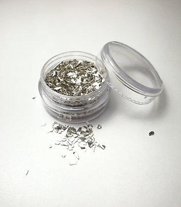 Broken Glass Effect Gel Nail design