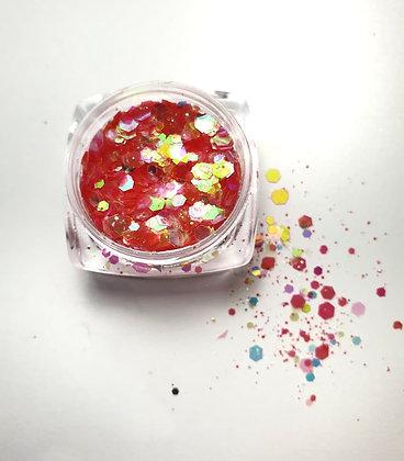 Nail Art Glitters Red