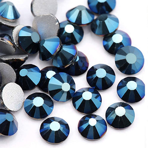 Extra Quality Blue Metallic rhinestones 1728 pcs 6sizes
