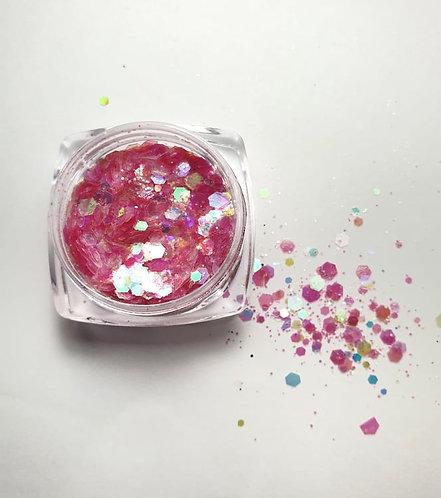 Nail Art Glitters Pink
