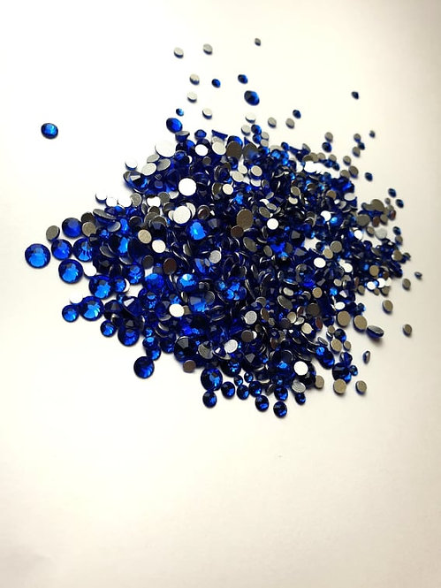 Extra Quality High Shine Crystals  Blue 1728 pcs 6 sizes . Separated