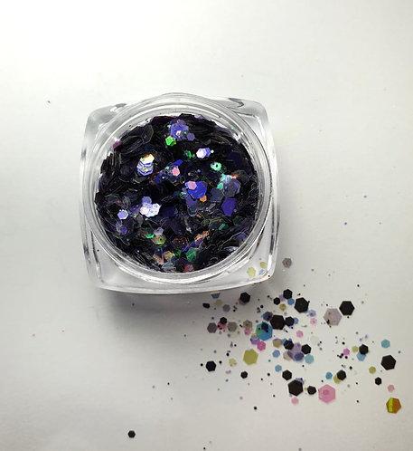 Nail Art Glitters Multi Color Dark