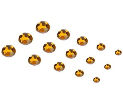 Extra Quality High shine Dark Yellow  Crystals  1728 pcs 6 sizes. Separated