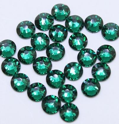 Extra Quality High Shine Crystals Dark Green 1728 pcs 6 sizes