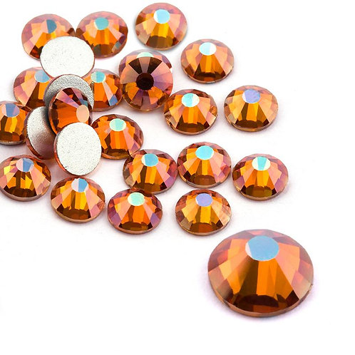 Extra Quality High Shine Crystals Shiny Amber  1728 pcs 6 sizes