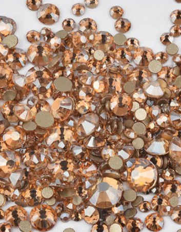 Extra Quality High Shine Crystals Gold Shadow 1728 pcs 6 mixed sizes