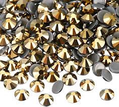 Extra Quality High Shine Crystals  Gold 1728 pcs 6 sizes. Separated
