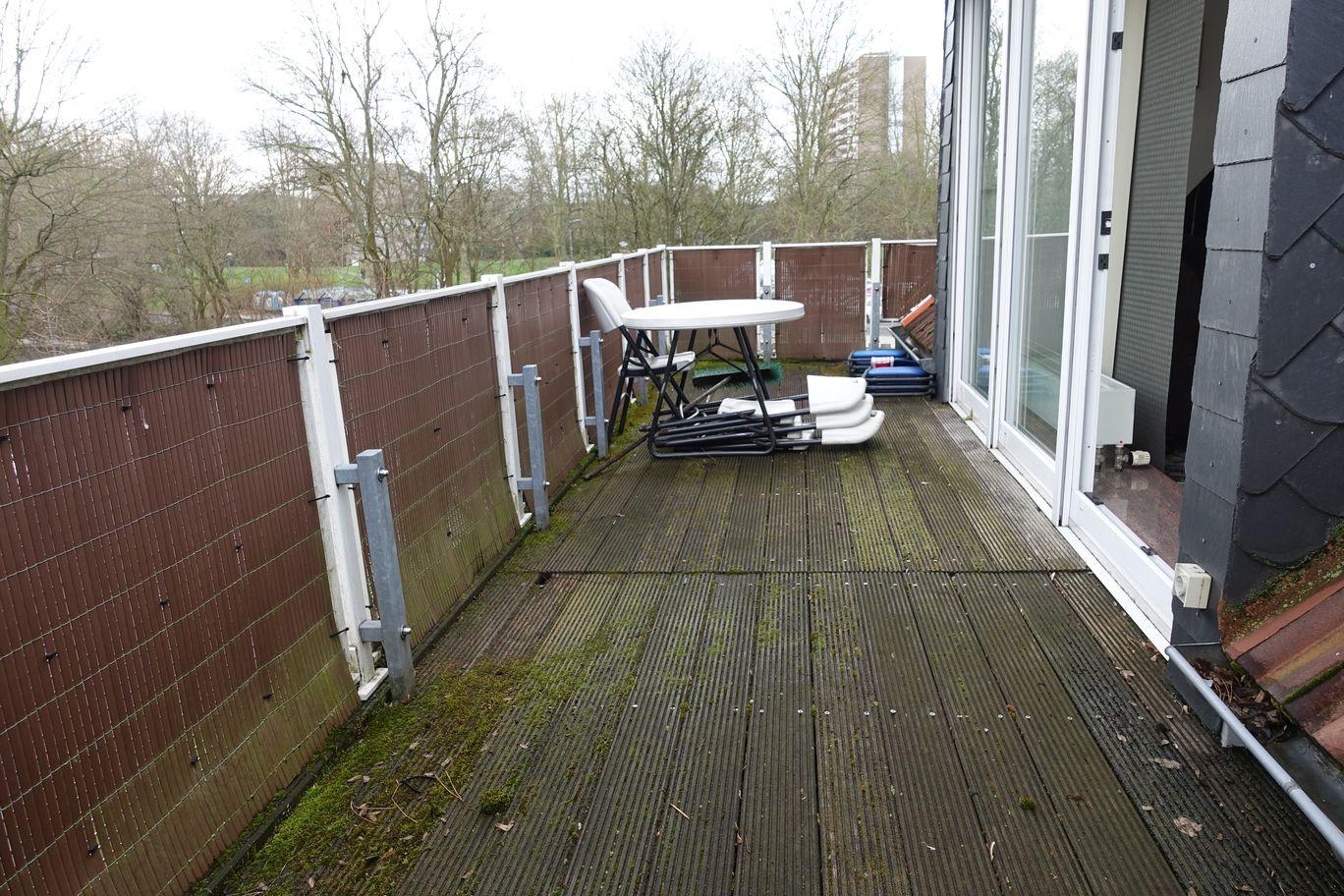 Balkon vor dem Wohnzimmer