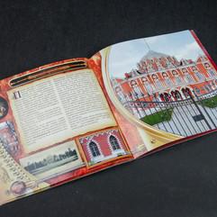 Тематический промо-каталог работ компании «Д.О.М.». Разворот «Петровский путевой дворец»